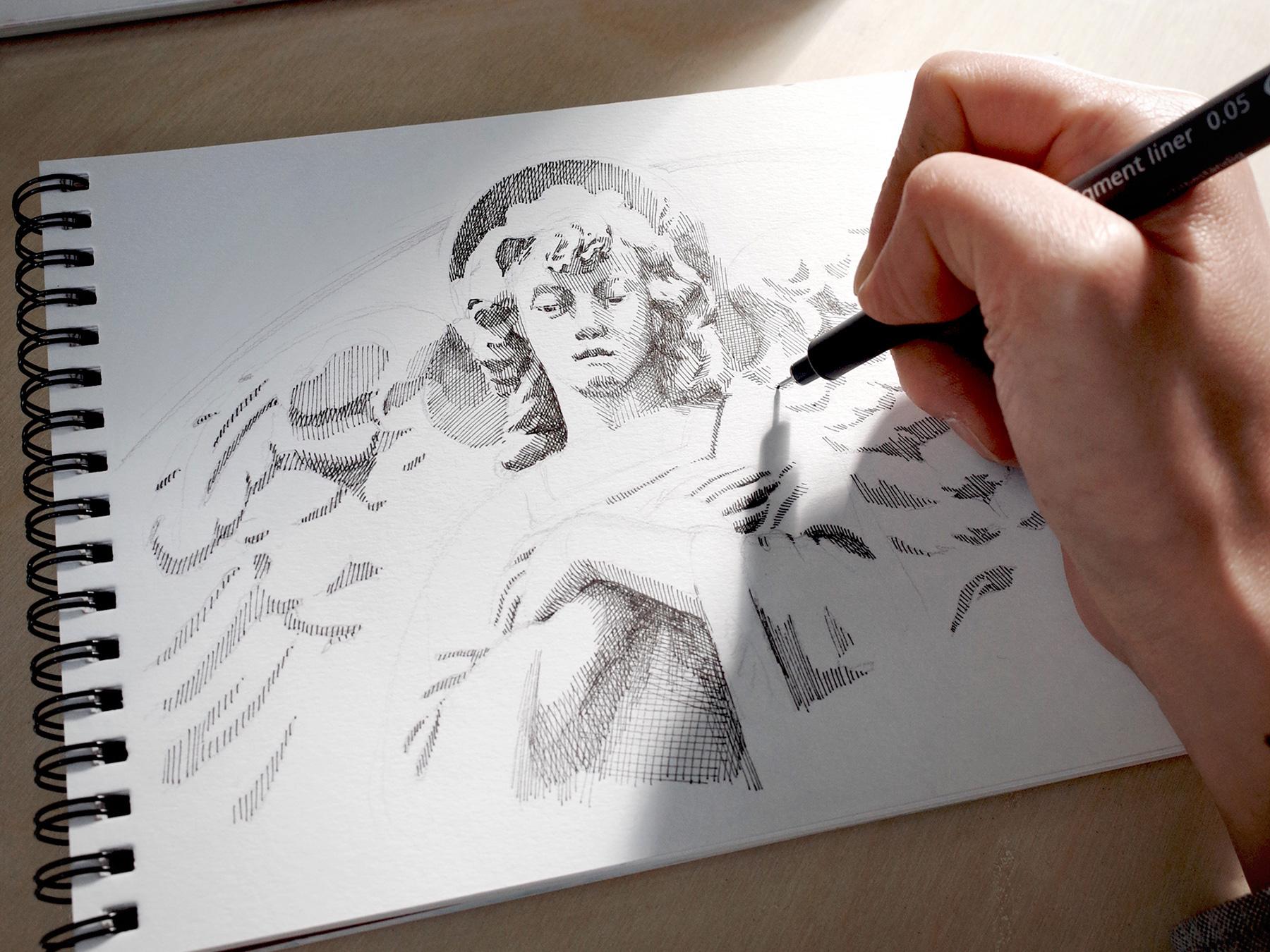 드로잉 수업 : 펜 드로잉