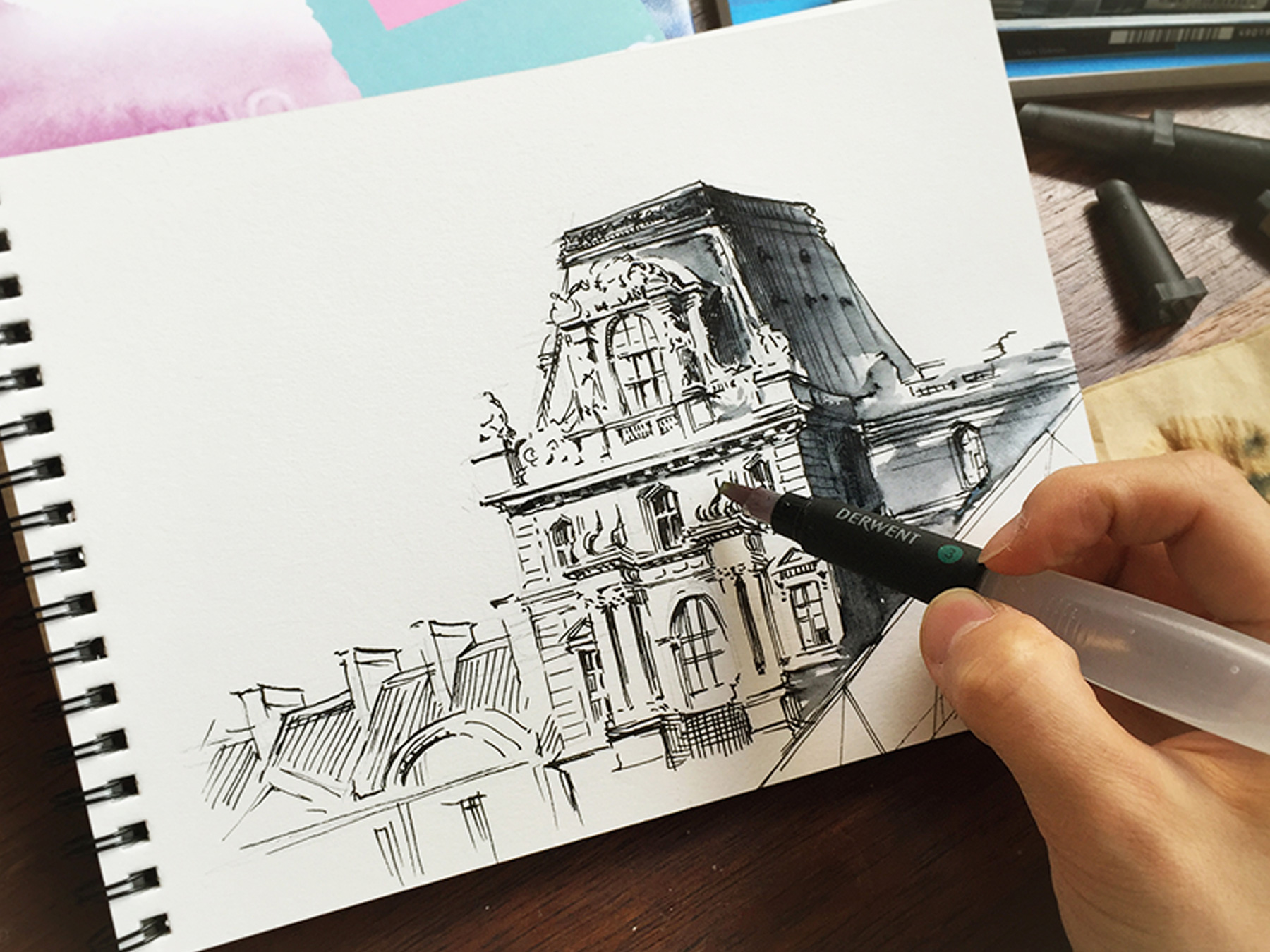 드로잉 수업 : 풍경 스케치